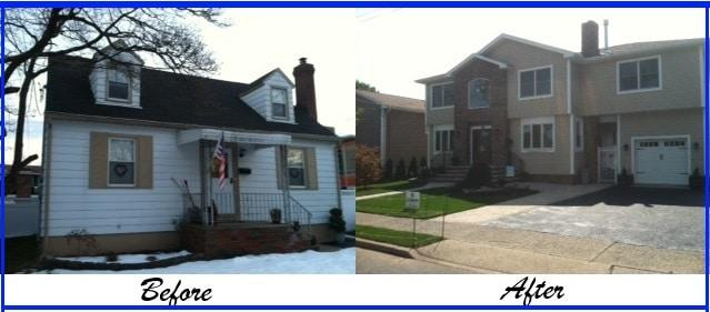 Pangione developers inc before after photos Master suite addition behind garage