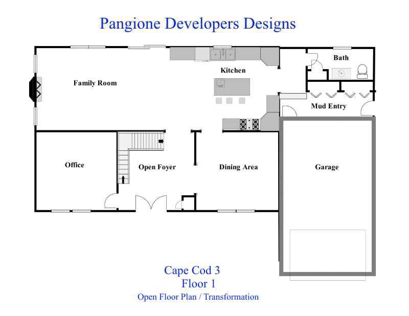 Cape Cod Floor Plan 3 1st Floor Bergen County Contractors New