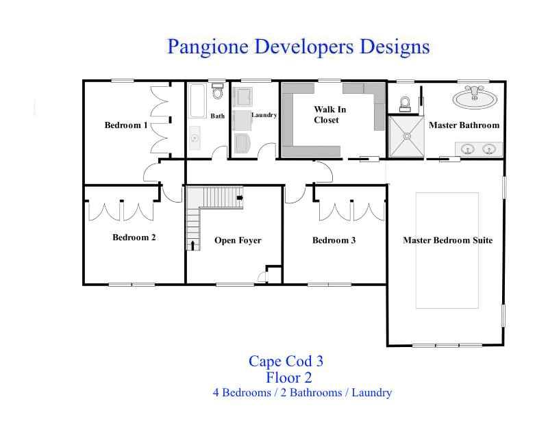 Cape Cod Floor Plan 3 Second Floor Bergen County